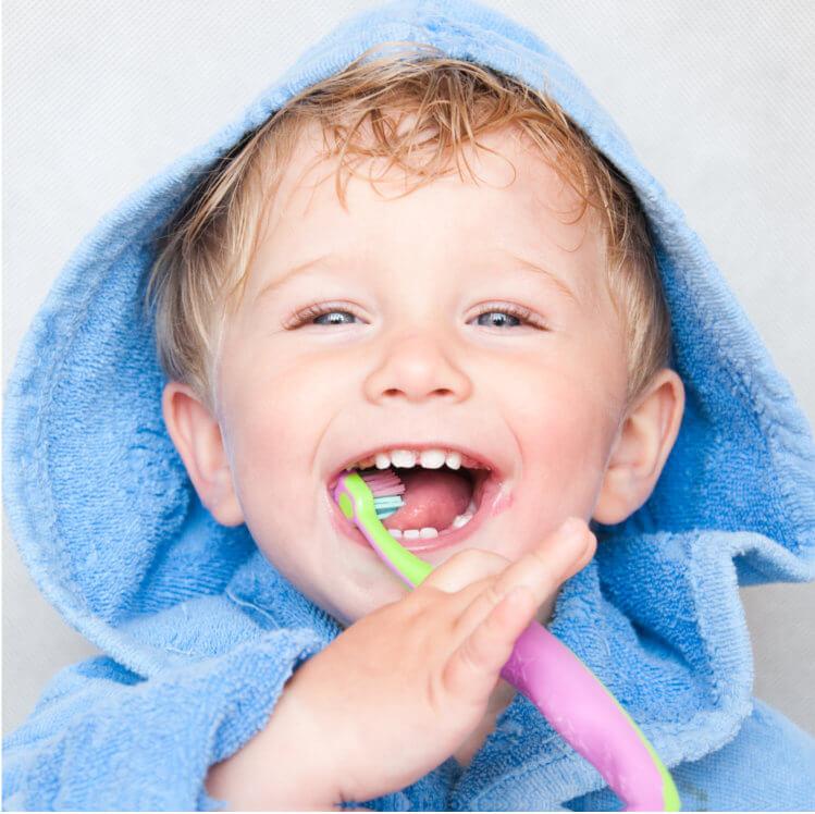 Kid with Healthy Habit